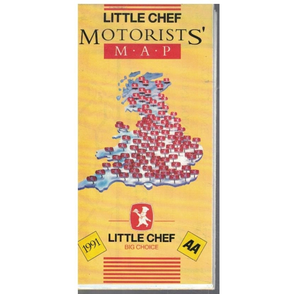 Little Chef Motorist's map